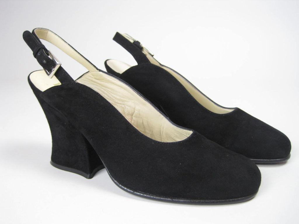 Classic Prada Black Suede Heels-SALE! 4