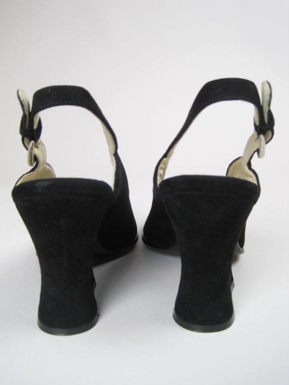 Classic Prada Black Suede Heels-SALE! 5