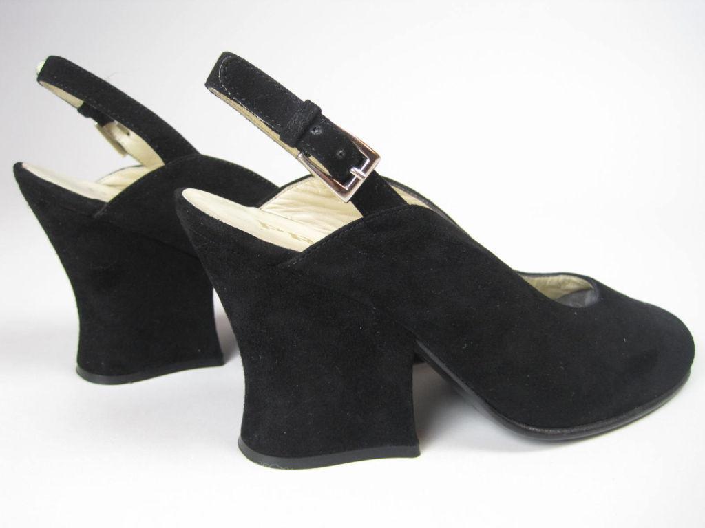 Classic Prada Black Suede Heels-SALE! 6