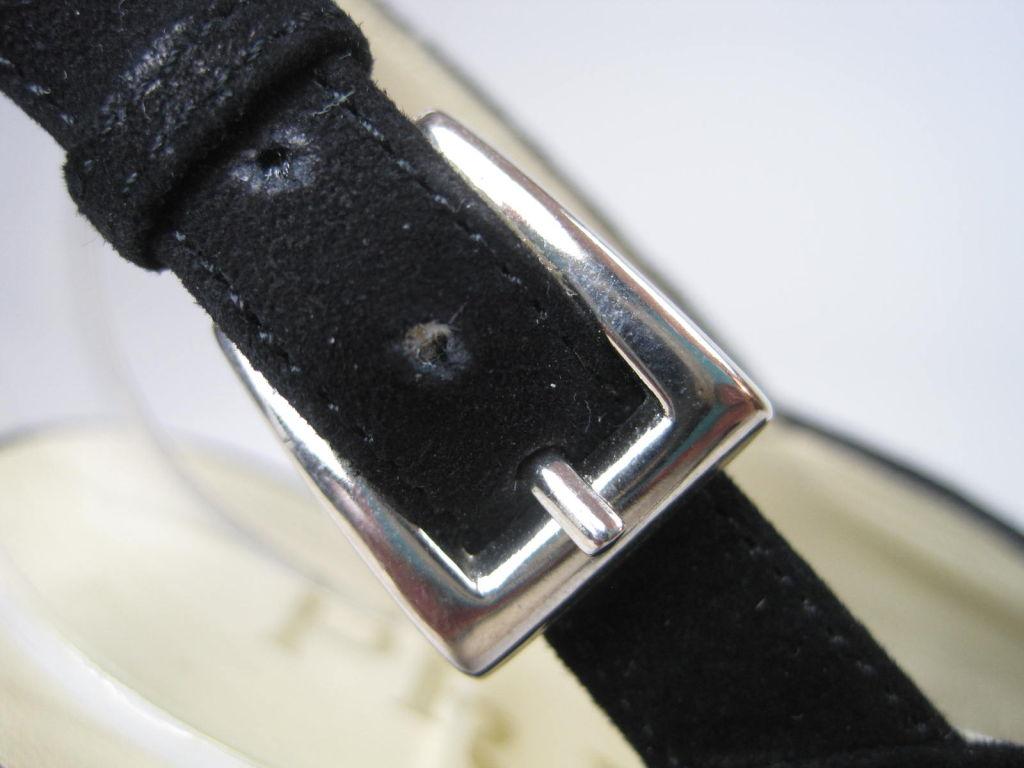 Classic Prada Black Suede Heels-SALE! 7