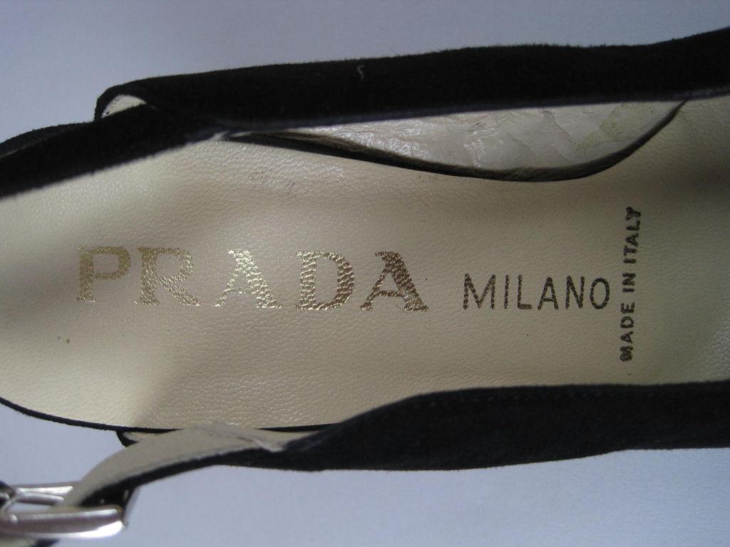 Classic Prada Black Suede Heels-SALE! 8