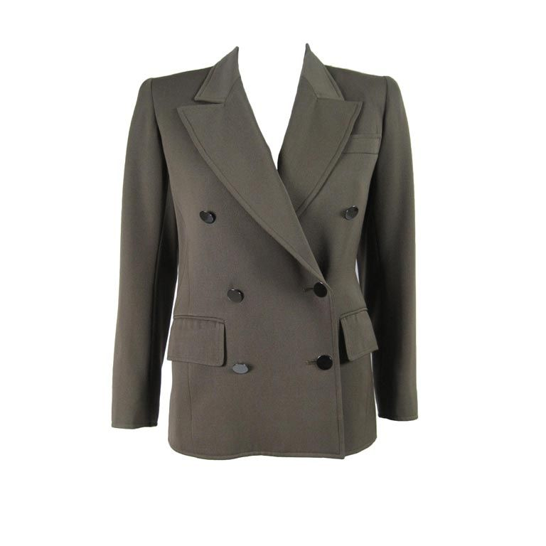 YSL Double-Breasted Military Blazer 1