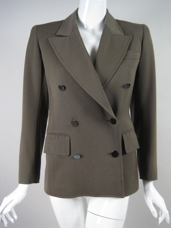YSL Double-Breasted Military Blazer 2