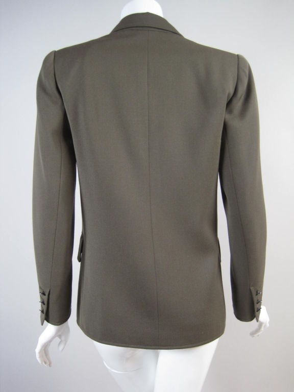 YSL Double-Breasted Military Blazer 4