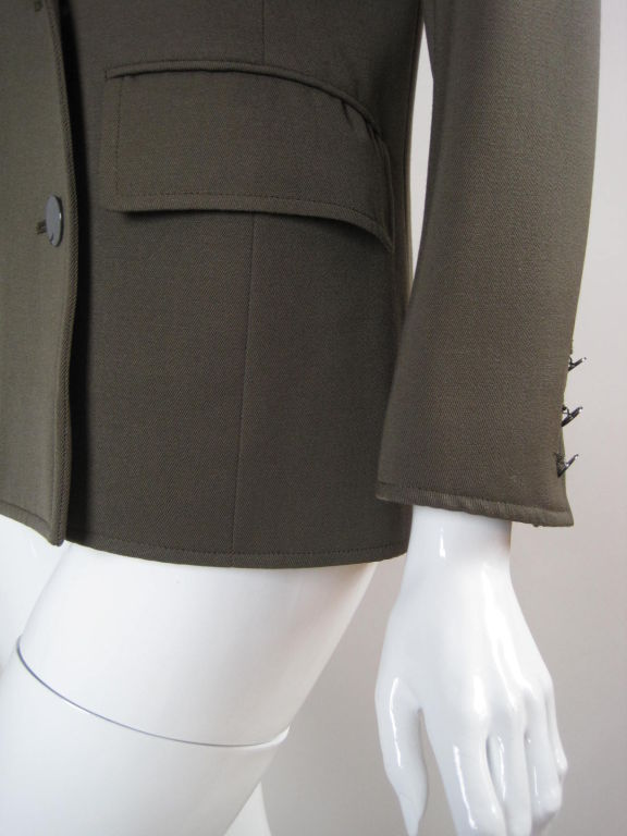 YSL Double-Breasted Military Blazer 6