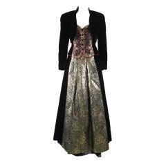 Escada Velvet Ball Gown with Matching Bolero