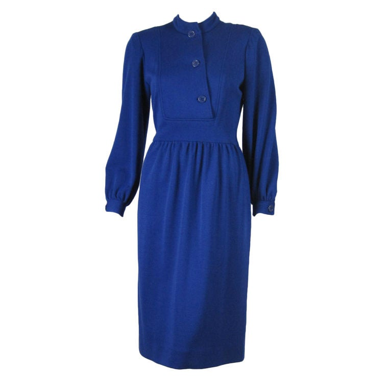 Albert Nipon Royal Blue Knit Dress
