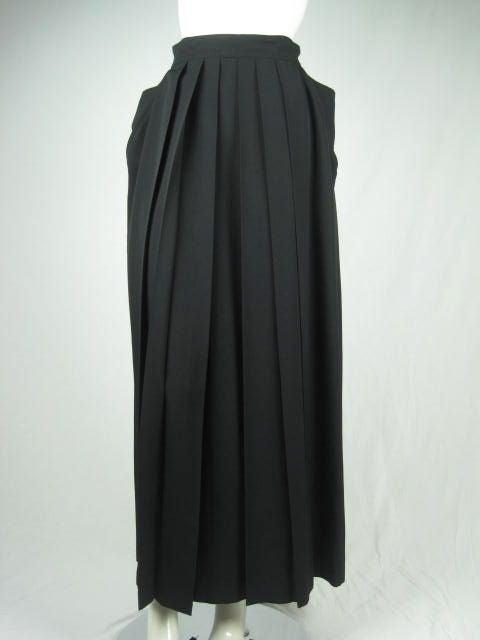 Yohji Yamamoto Pleated Skirt image 2