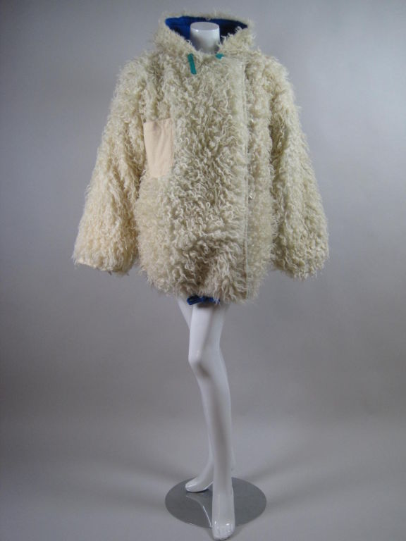 Castelbajac Reversible Curly Wool Coat image 2