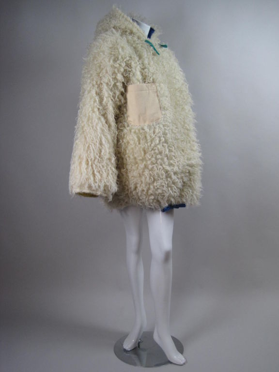 Castelbajac Reversible Curly Wool Coat image 3