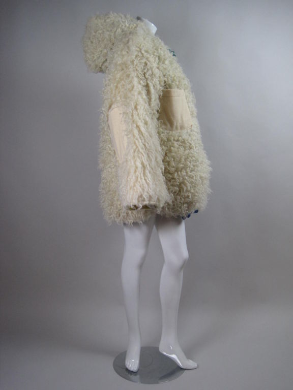 Castelbajac Reversible Curly Wool Coat image 4