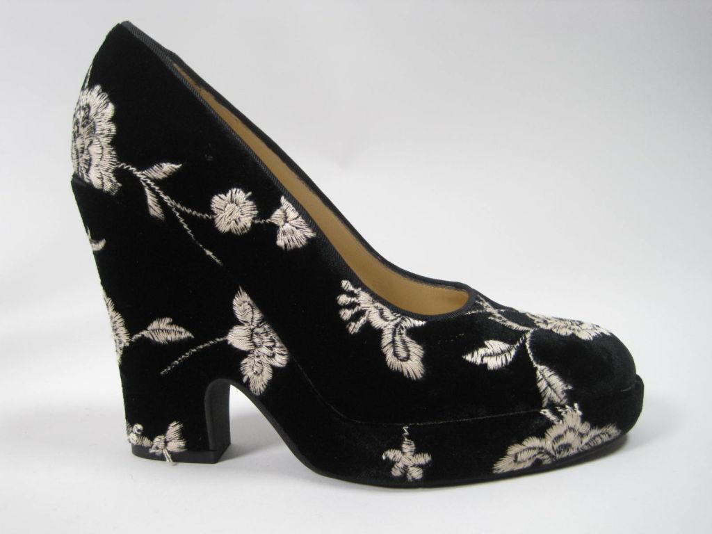 Dolce & Gabbana Embroidered Platform Wedges image 2