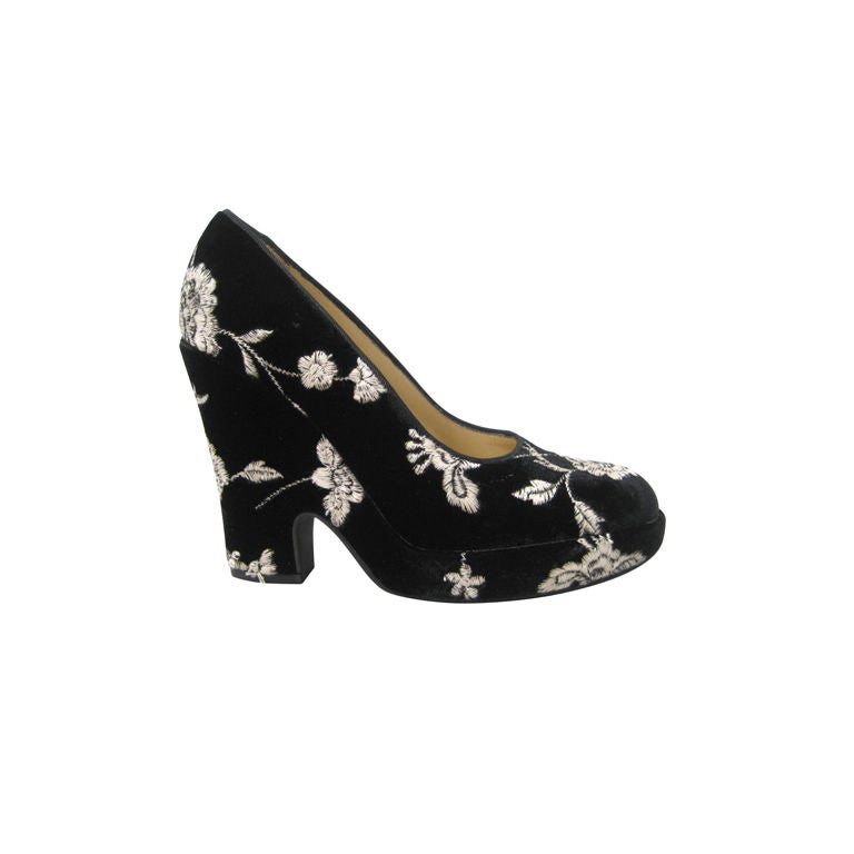 Dolce & Gabbana Embroidered Platform Wedges
