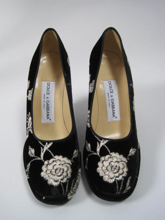 Dolce & Gabbana Embroidered Platform Wedges image 3