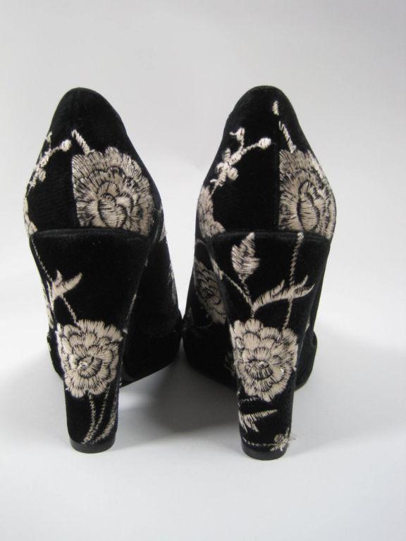 Dolce & Gabbana Embroidered Platform Wedges image 4
