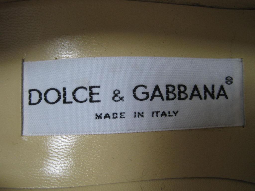 Dolce & Gabbana Embroidered Platform Wedges image 7