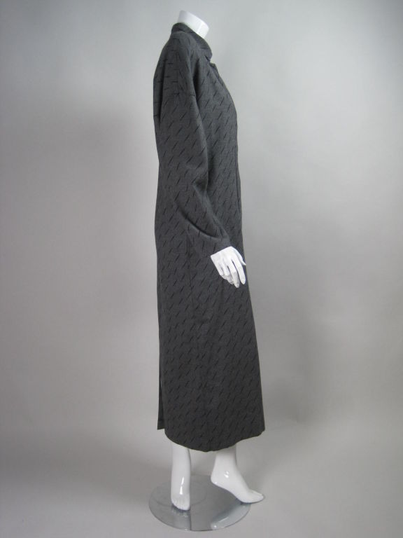 1980's Krizia Gray Wool Dress In Excellent Condition For Sale In Los Angeles, CA