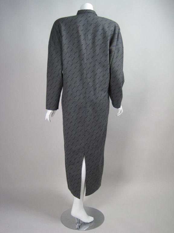 1980's Krizia Gray Wool Dress 5