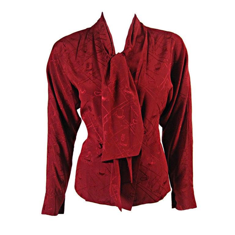 Silk Hermes Blouse 85