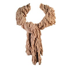 Herve Leger Taupe Ruffled Wrap