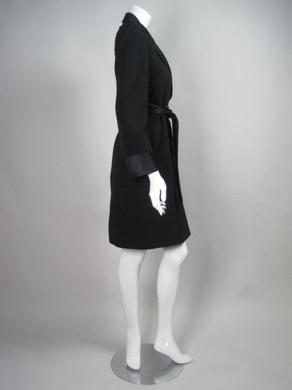 Yves Saint Laurent Tuxedo Dress with Satin Trim 4