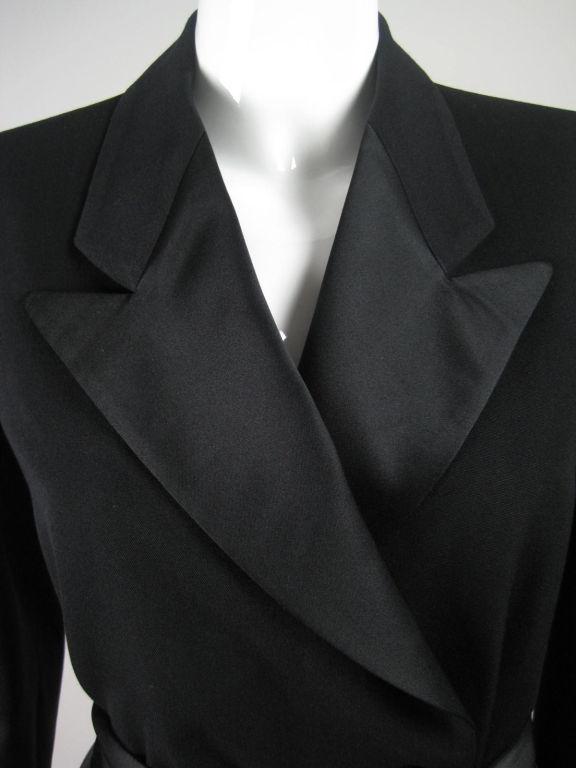 Yves Saint Laurent Tuxedo Dress with Satin Trim 6