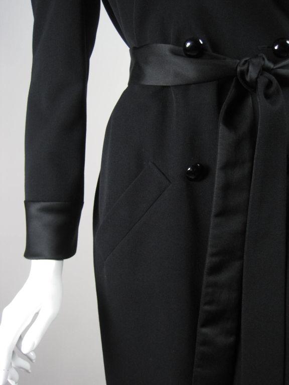 Yves Saint Laurent Tuxedo Dress with Satin Trim 7
