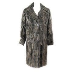 Louis Feraud Lamb's Fur Coat