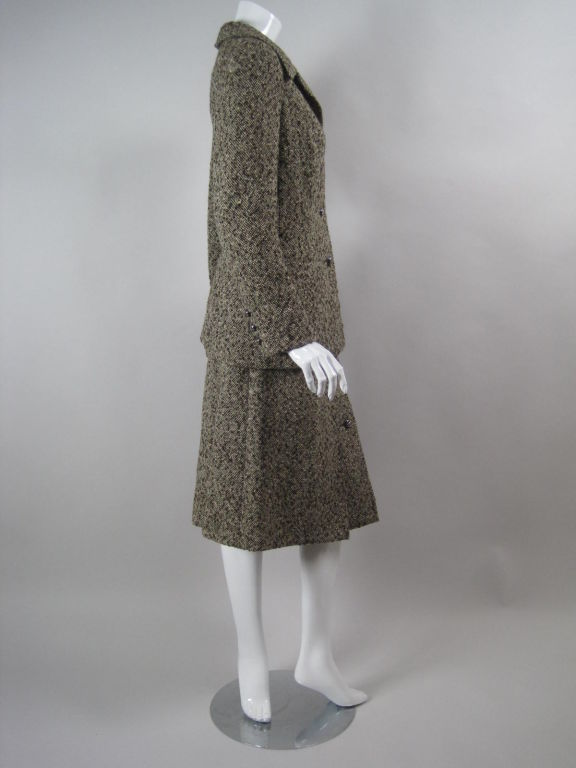 Christian Dior 1970 S Couture Tweed Suit At 1stdibs