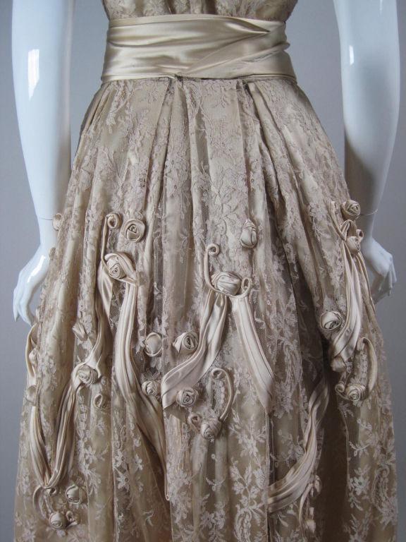 1950's Harvey Berin Chantilly Lace Cocktail Dress 7