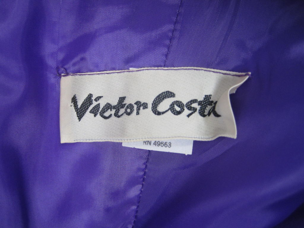 1980's Victor Costa One-Shouldered Gown For Sale 4