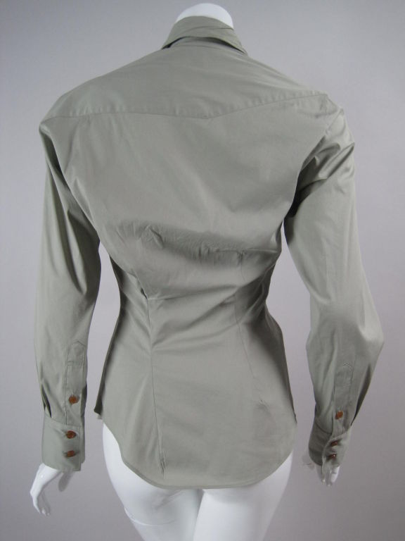 Women's Vivienne Westwood Red Label Asymmetrical Blouse For Sale