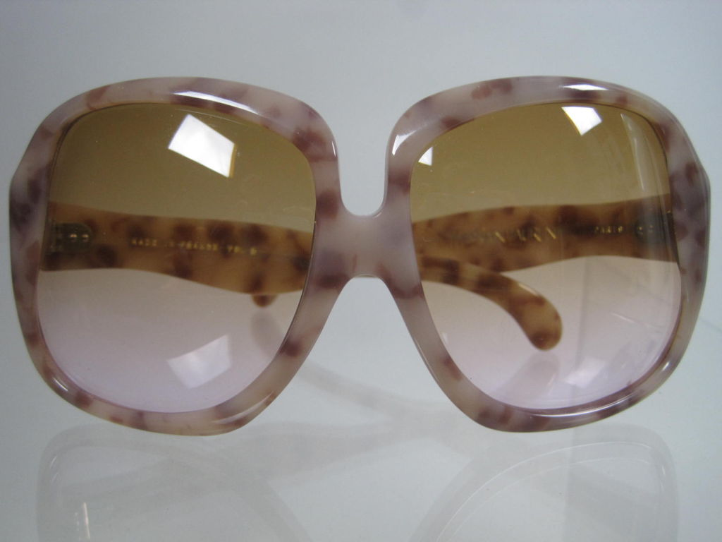 1970's YSL Oversized Tortoise Shell Sunglasses 2