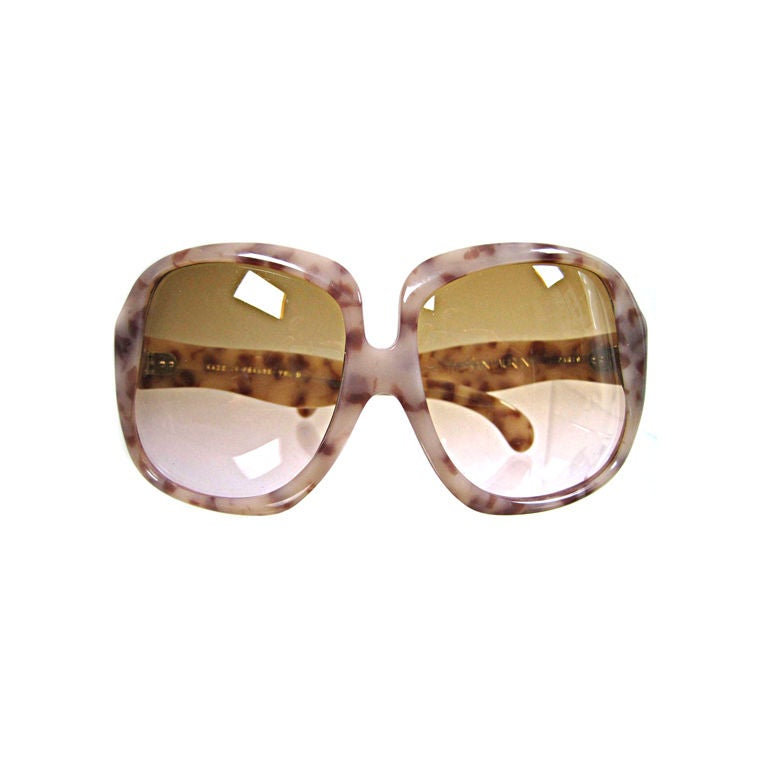 1970's YSL Oversized Tortoise Shell Sunglasses 1
