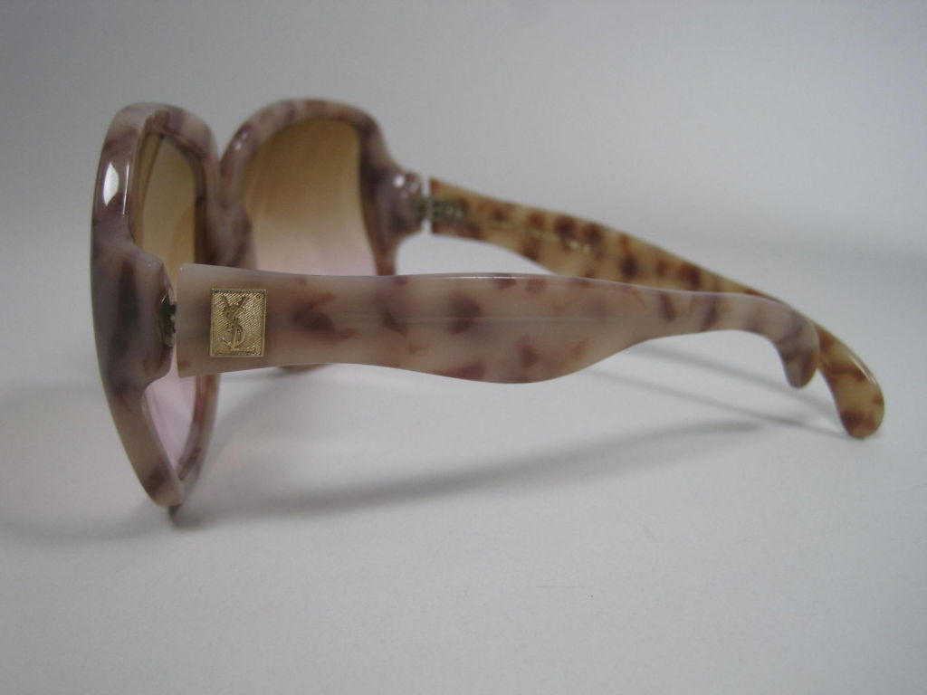 1970's YSL Oversized Tortoise Shell Sunglasses 3