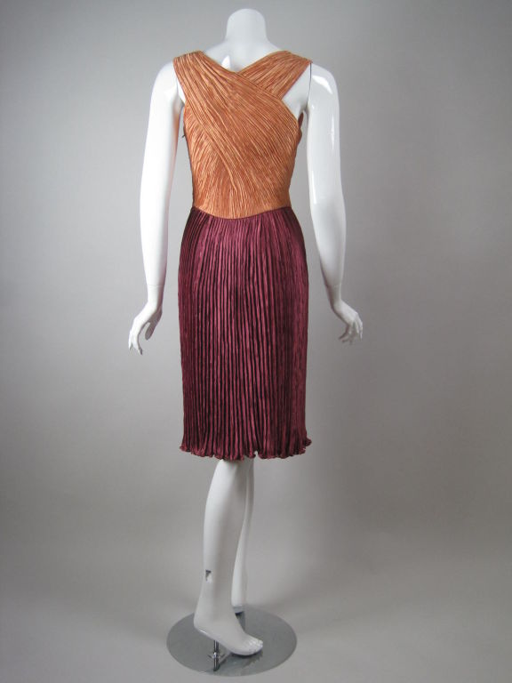 Women's Mary McFadden Couture Dress with Crisscrossed Bodice For Sale