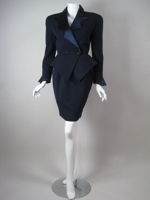 Thierry Mugler Futuristic Cocktail Suit With Open Back At