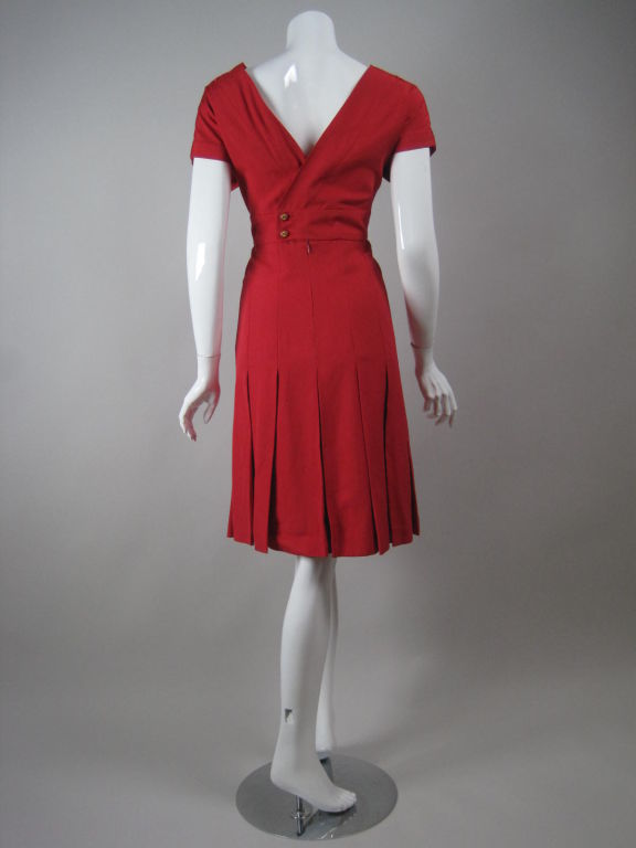 Chanel Boutique Red Silk Dress For Sale 1