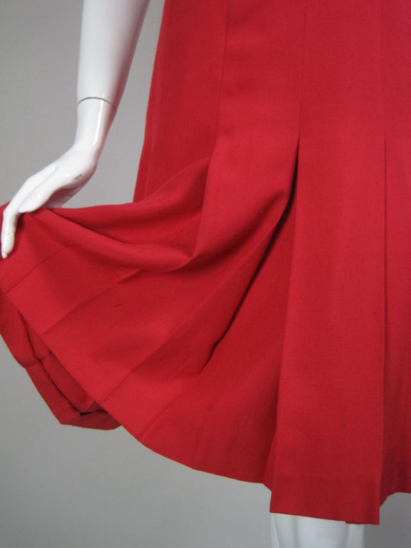 Chanel Boutique Red Silk Dress For Sale 4