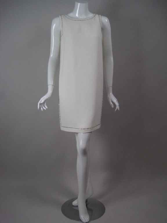 Versace Shift Dress with Beaded Trim 2