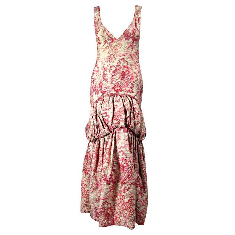 1920's Lamé Brocade Gown 1