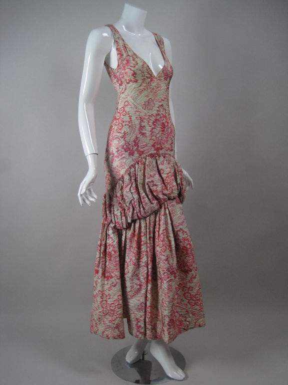 1920's Lamé Brocade Gown 2