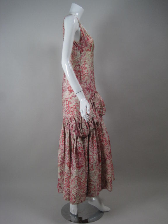 1920's Lamé Brocade Gown 3