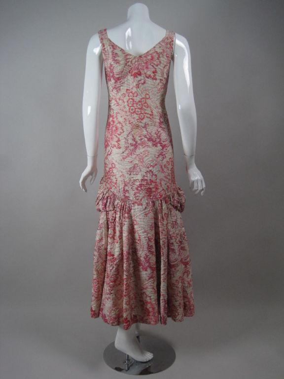 1920's Lamé Brocade Gown 4