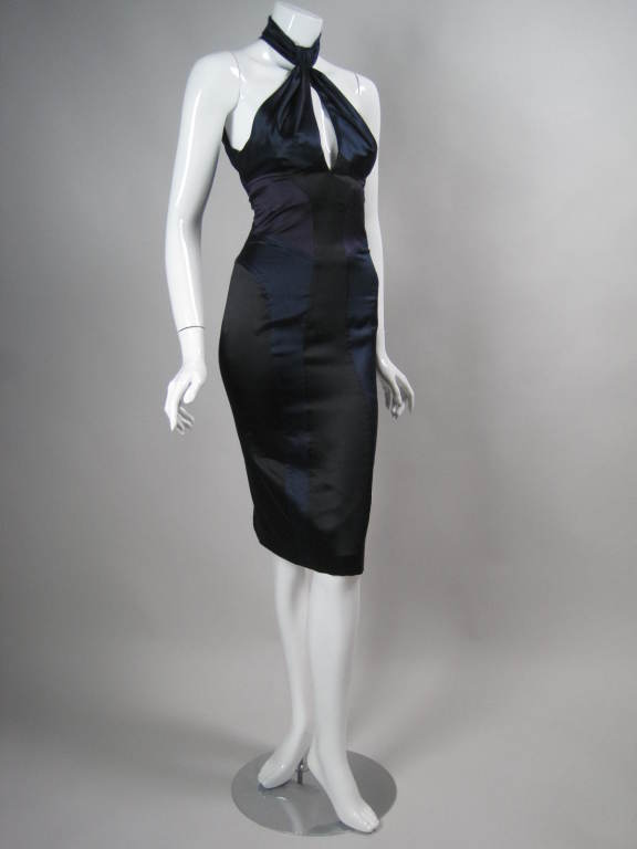 Versace Color-Blocked Cocktail Dress at 1stdibs