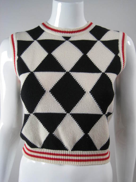 Versace Black and White Sweater Vest 2