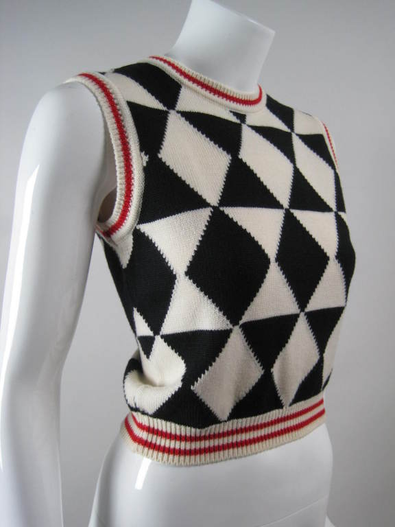 Versace Black and White Sweater Vest 3