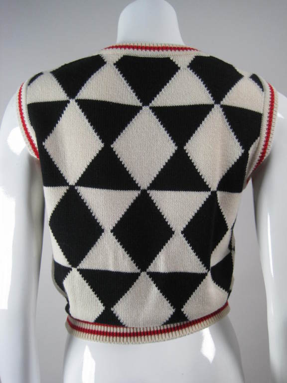 Versace Black and White Sweater Vest 4