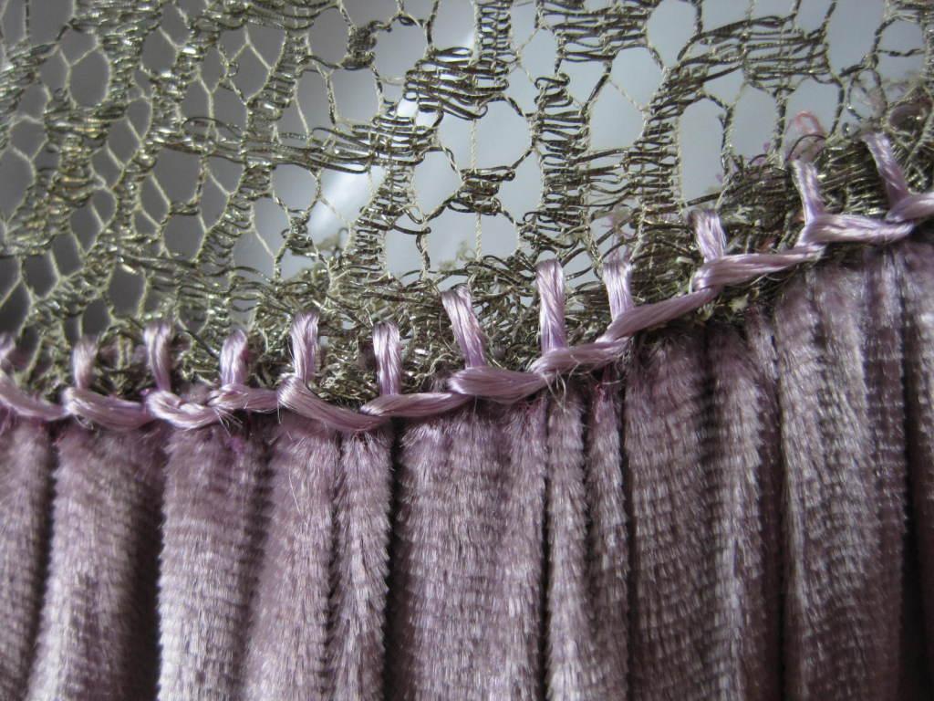 1920's Beaded Velvet & Metallic Lace Dress 9