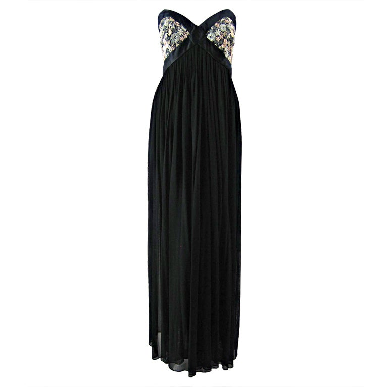 Vicky Tiel Couture Strapless Goddess Gown